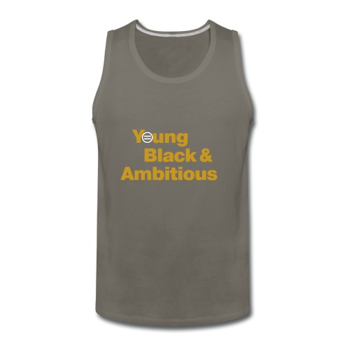 YBA Black and Gold Shirt2 - Men's Premium Tank