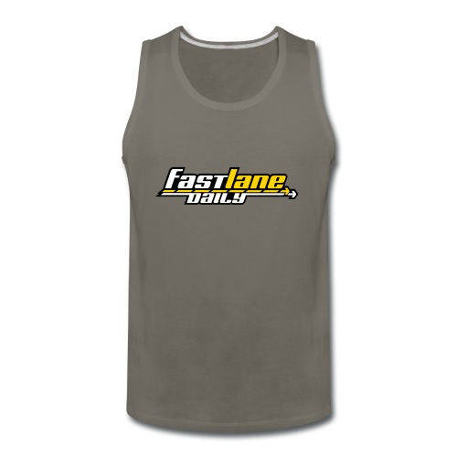 Fast Lane Daily logo in 3 colors! - Men's Premium Tank