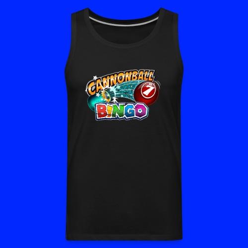 Vintage Cannonball Bingo Logo - Men's Premium Tank