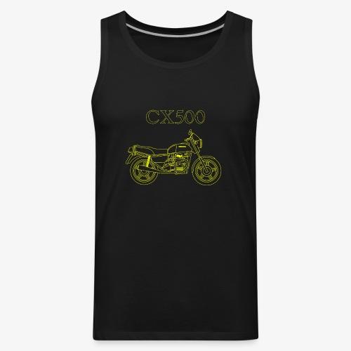 CX500 line drawing - Men's Premium Tank