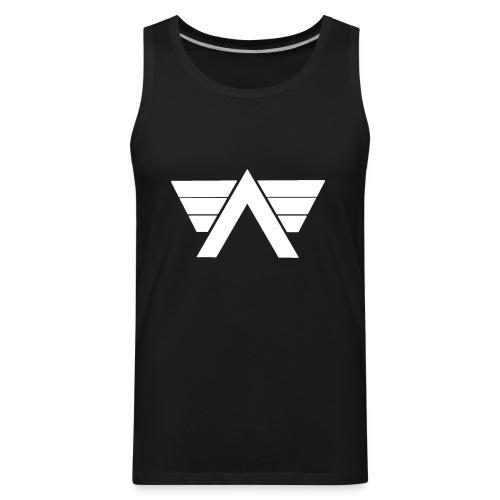 Bordeaux Sweater White AeRo Logo - Men's Premium Tank