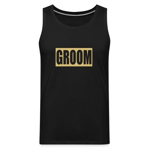 Groom Engagement Wedding - Men's Premium Tank