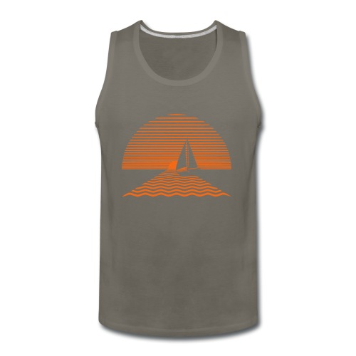 Sunset Sailboat - Men's Premium Tank