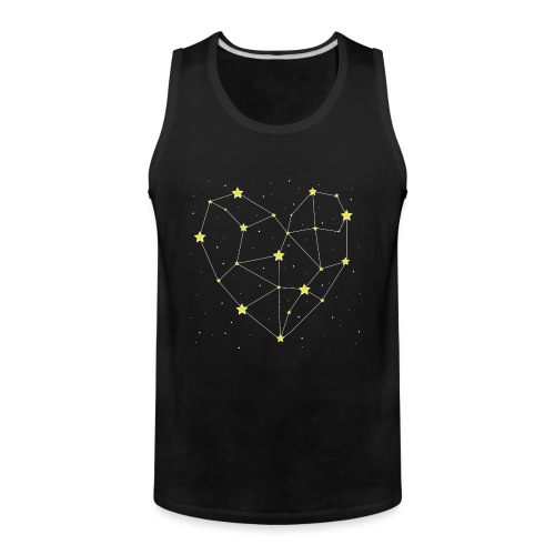 Heart in the Stars - Men's Premium Tank
