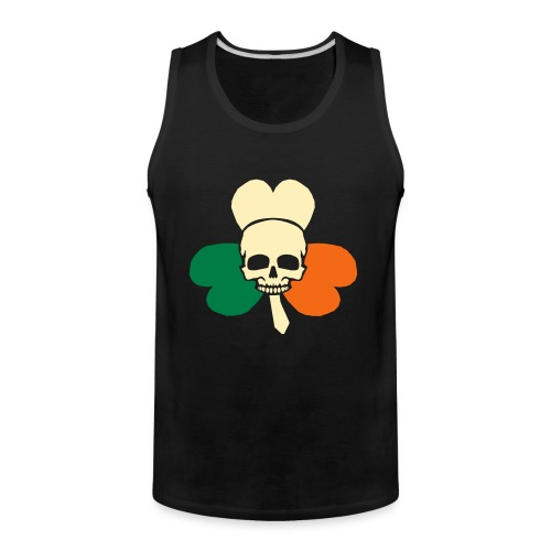 irish_skull_shamrock - Men's Premium Tank