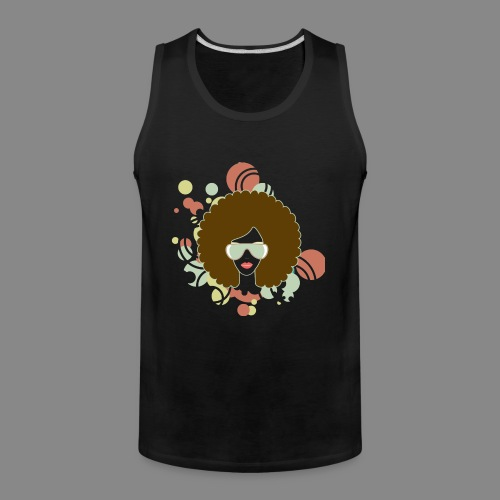 Brown Afro (Abstract) - Men's Premium Tank