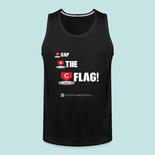 CAP THE FLAG (white) - Men's Premium Tank