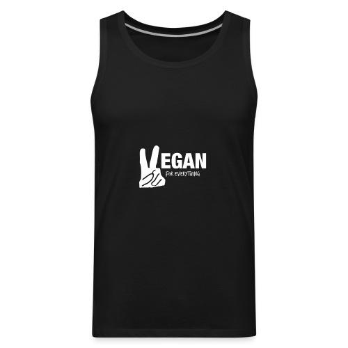 Vegan For Everything white design - Men's Premium Tank