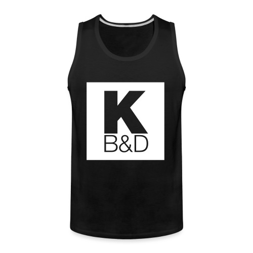 KBD_White - Men's Premium Tank