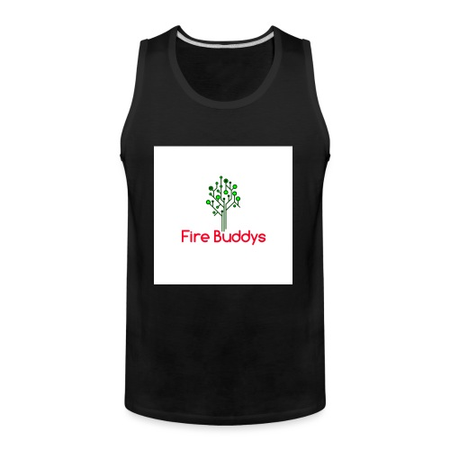 Fire Buddys Website Logo White Tee-shirt eco - Men's Premium Tank