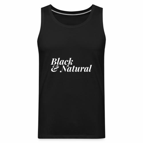 Black & Natural Women's - Men's Premium Tank