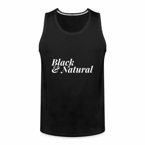 Black & Natural Women's Tee - Men's Premium Tank