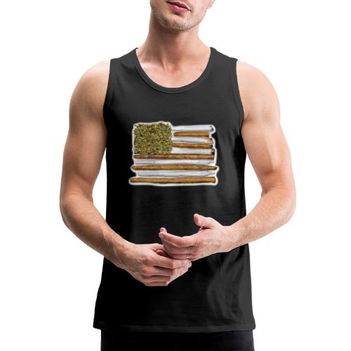 American Flag With Joint - Men's Premium Tank