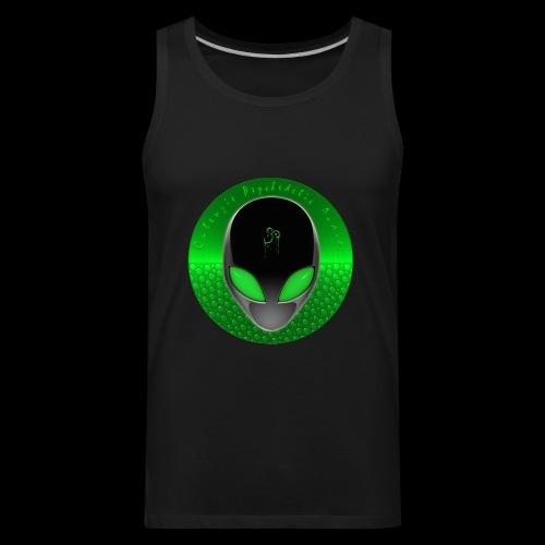 Psychedelic Alien Dolphin Green Cetacean Inspired - Men's Premium Tank