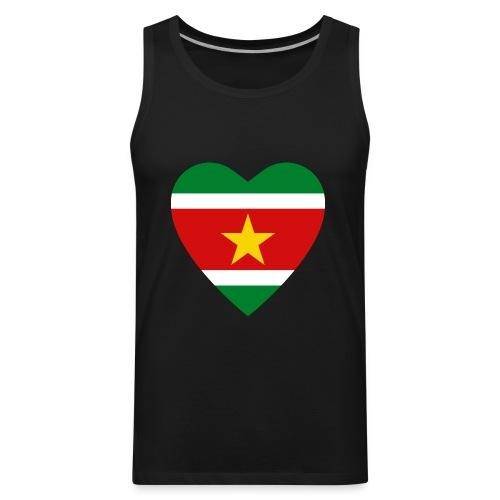 Suriname Flag Heart - Men's Premium Tank
