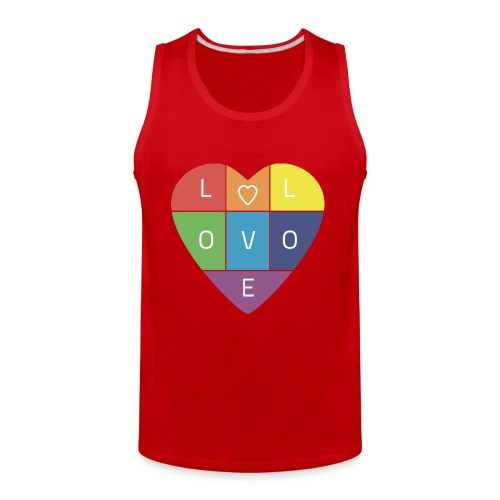 Rainbow Heart - Men's Premium Tank