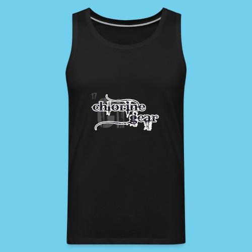 Chlorine Gear Textual B W - Men's Premium Tank