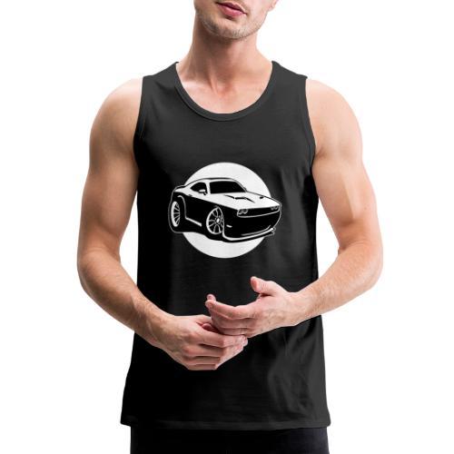 Modern American Muscle Car Cartoon Illustration - Men's Premium Tank