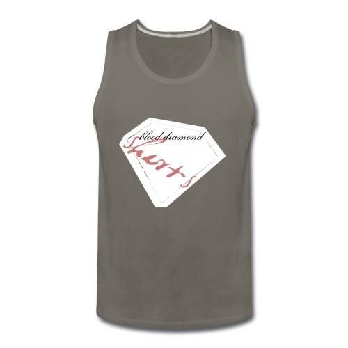 Blood Diamond -white logo - Men's Premium Tank