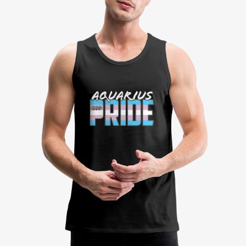 Aquarius Transgender Pride Flag Zodiac Sign - Men's Premium Tank