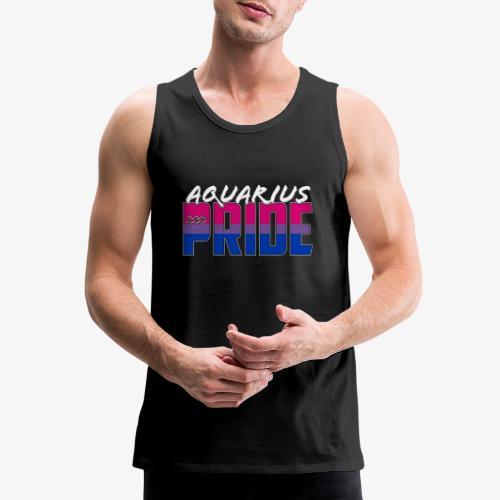 Aquarius Bisexual Pride Flag Zodiac Sign - Men's Premium Tank
