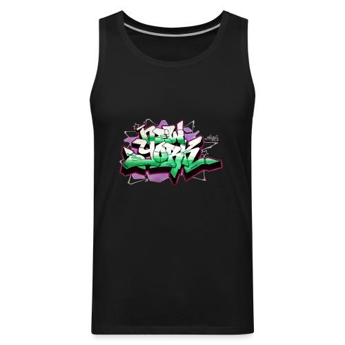 RANGE - Design for New York Graffiti Color Logo - Men's Premium Tank