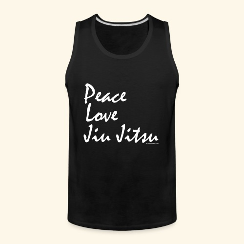 Jiu Jitsu - Peace Love wb - Men's Premium Tank
