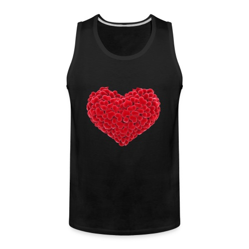 Valentine flower hear - Men's Premium Tank