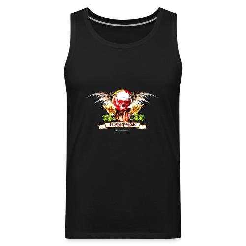Planet Beer Skull & Keg Gothic Color - Men's Premium Tank