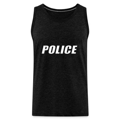 Police White - Men's Premium Tank