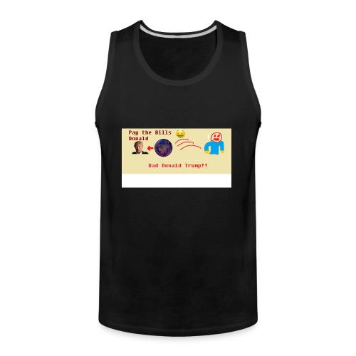 donald trump gets hit with a ball - Men's Premium Tank