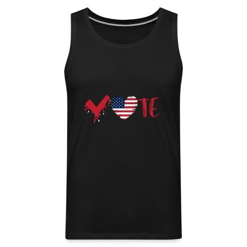 vote heart red - Men's Premium Tank