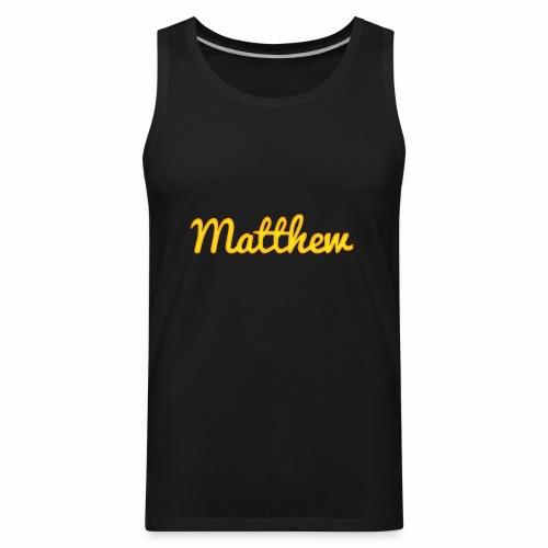 Matthew in Gold - Men's Premium Tank