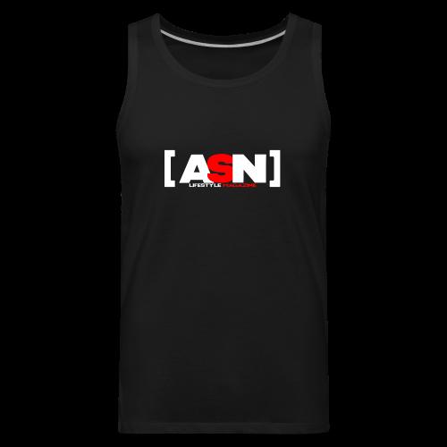 ASN Lifestyle Magazine White Logo - Men's Premium Tank