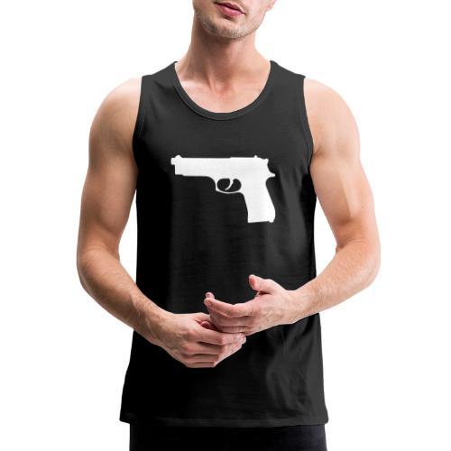 Semi-automatic Handgun Silhouette - Men's Premium Tank