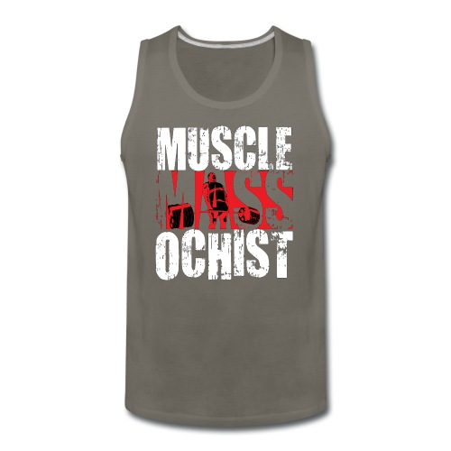MuscleMassochistShirtRed1 png - Men's Premium Tank