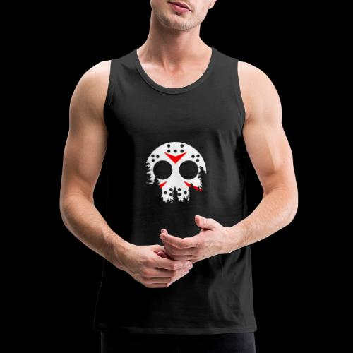 Haunted Halloween Hockey Mask - Men's Premium Tank