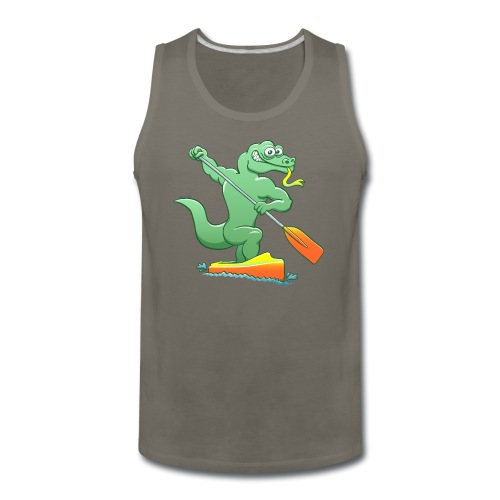 Water Monitor Competing in a Canoe Sprint Event - Men's Premium Tank