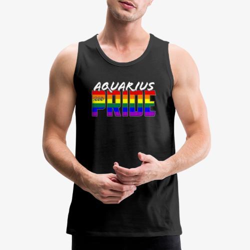 LGBT Aquarius Pride Flag Zodiac Sign - Men's Premium Tank