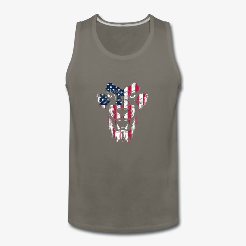 American Flag Lion - Men's Premium Tank
