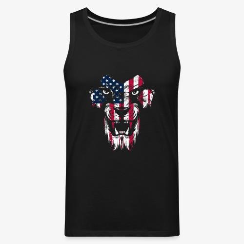 American Flag Lion - Men's Premium Tank