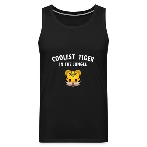 Coolest Tiger Hoodie - Men's Premium Tank