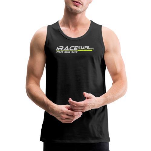 iRace4Life.org Gray Logo w/ iRace-iWin-iGive! - Men's Premium Tank