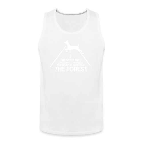 Deer's forest white - Men's Premium Tank