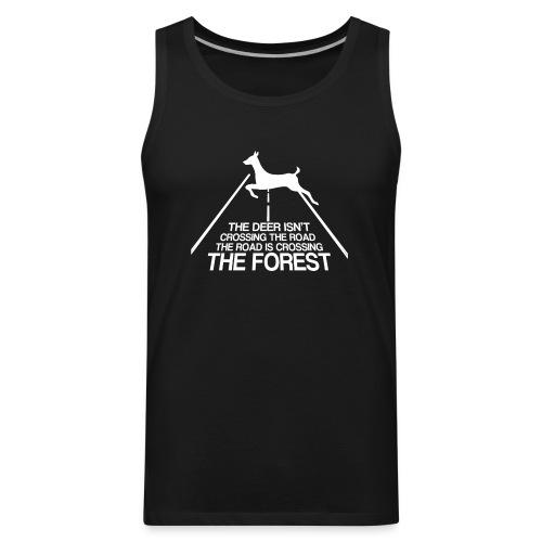 Deer's forest white - Men's Premium Tank