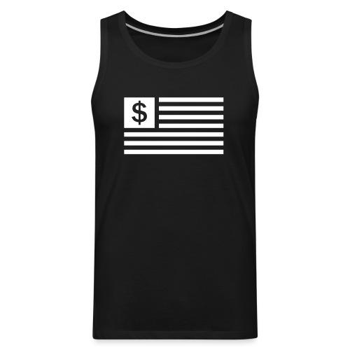 American Dollar Sign Flag - Men's Premium Tank