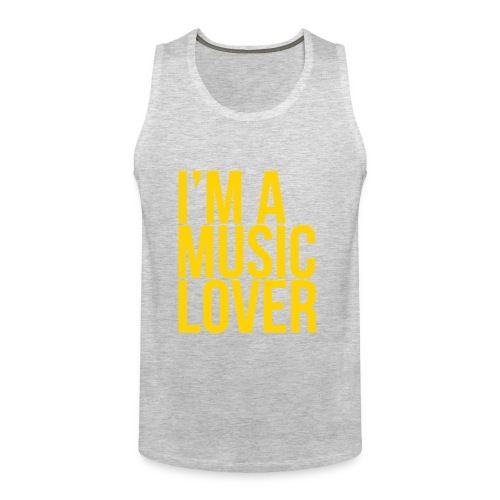 Music Lover big - Men's Premium Tank