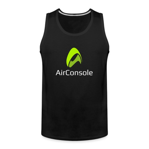 New Logo AirConsole White - Men's Premium Tank