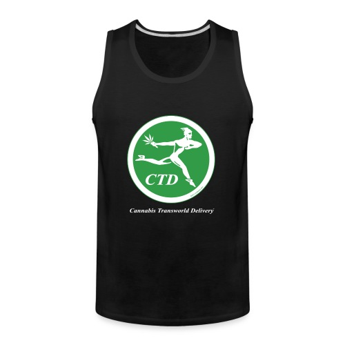 Cannabis Transworld Delivery - Green-White - Men's Premium Tank