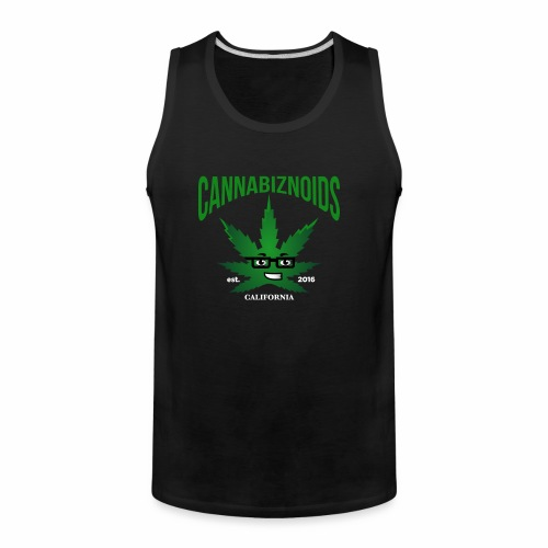 Cannabiznoids Logo with Text - Men's Premium Tank